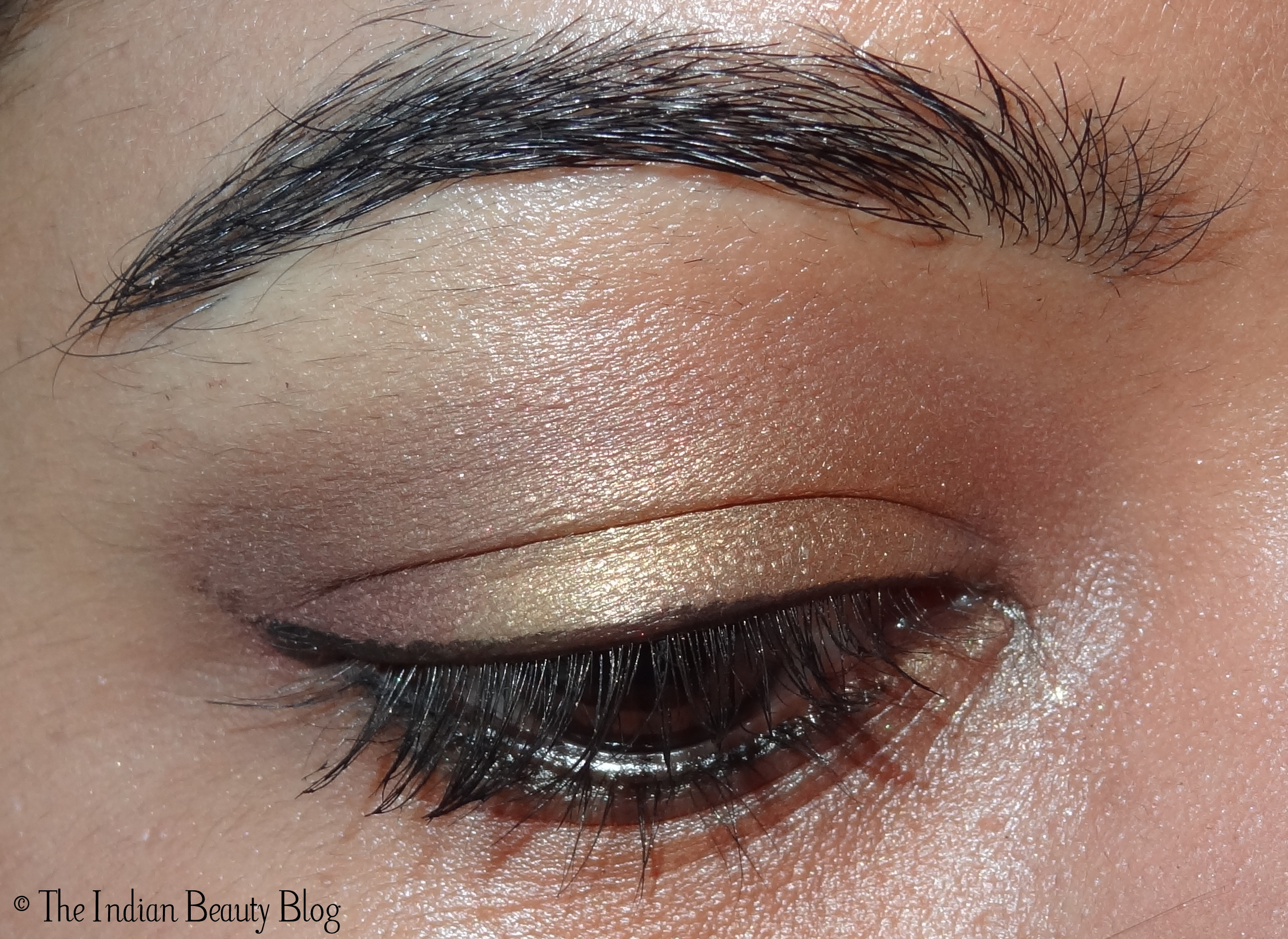 30 Days Eye Makeup Challenge Look 12 Gold And Taupe The Indian