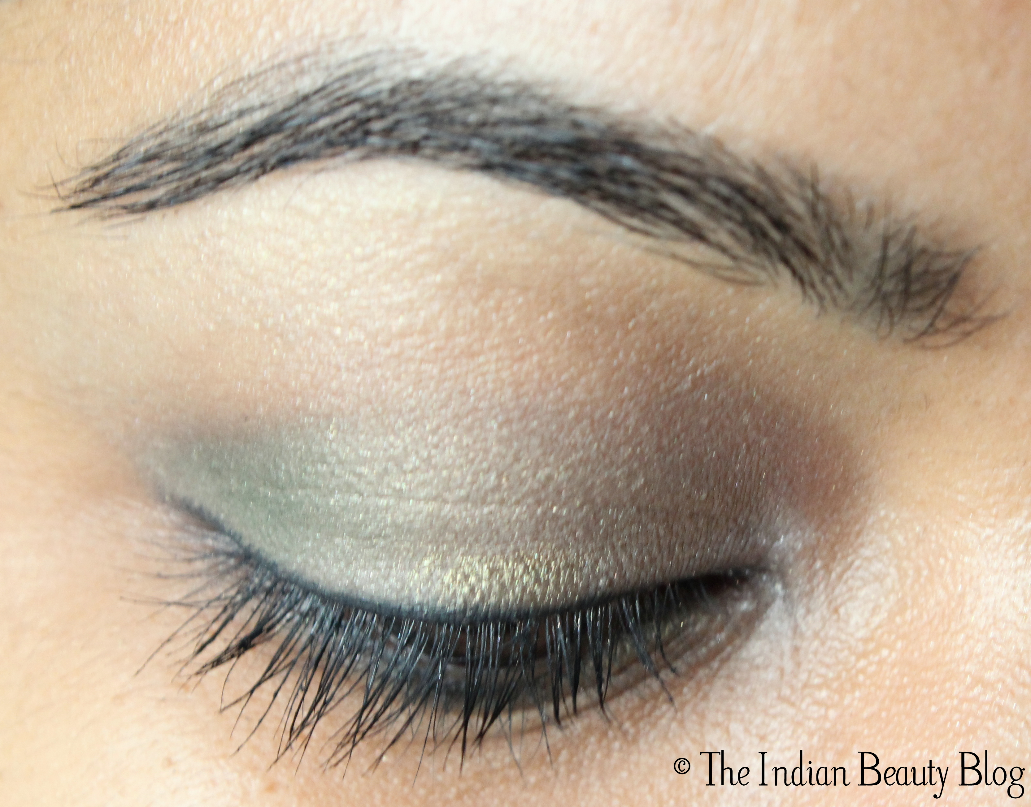 30 Days Eye Makeup Challenge Look 19 Subtle Green The Indian