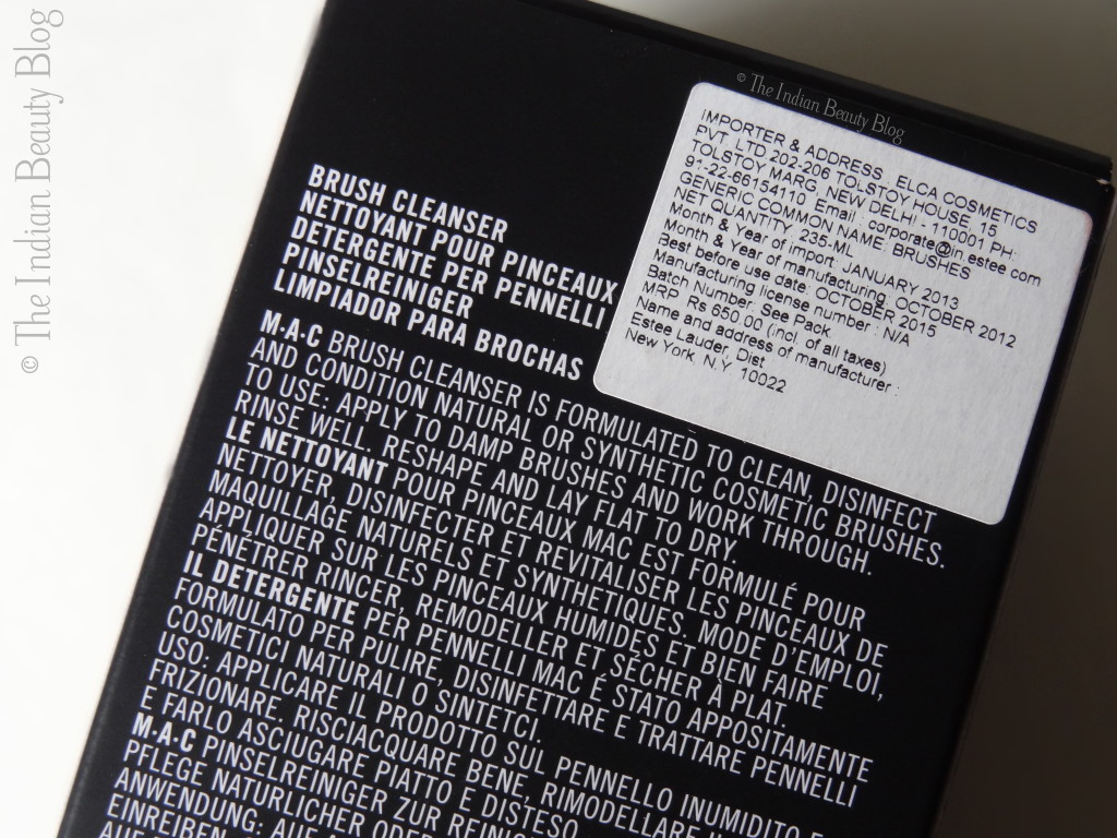 mac brush cleanser