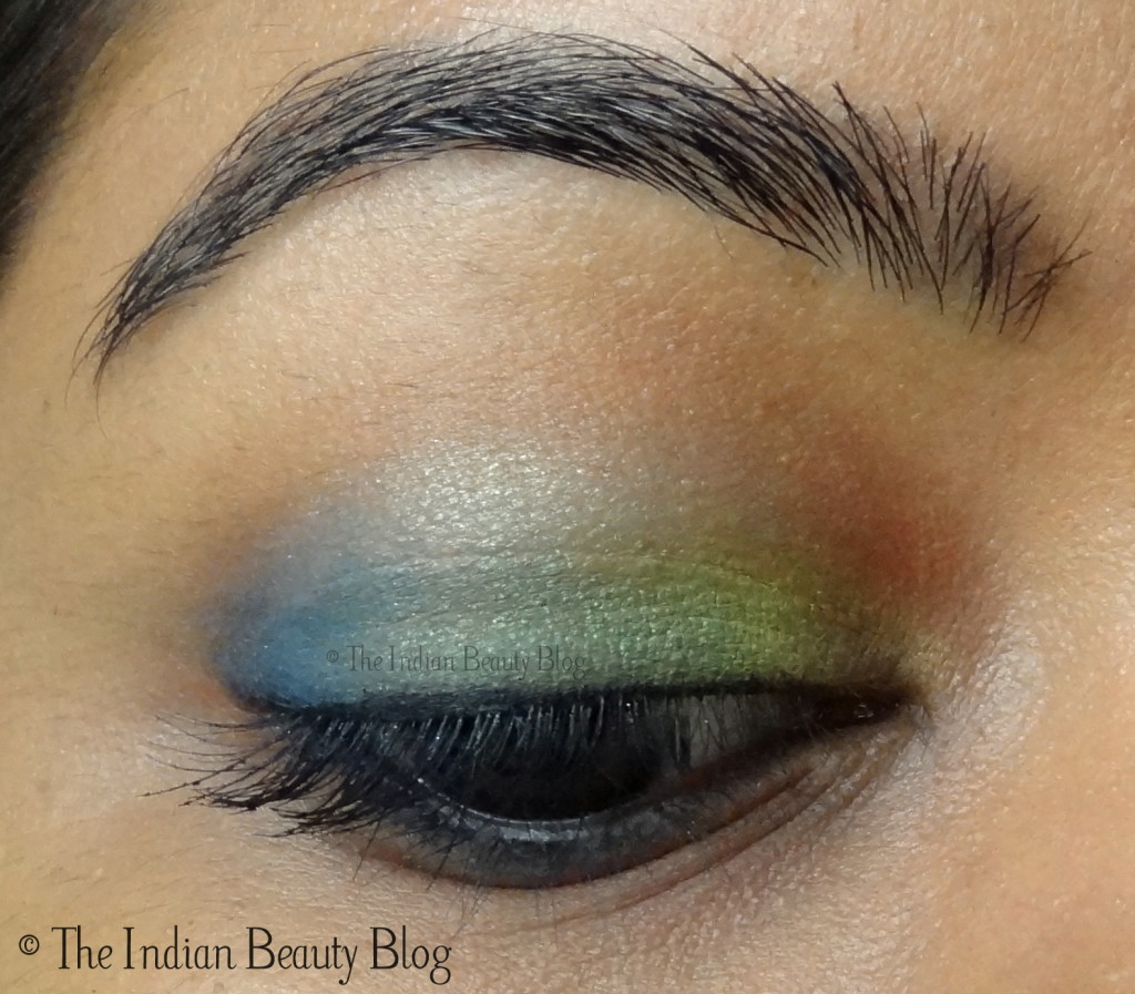 neon eye makeup look