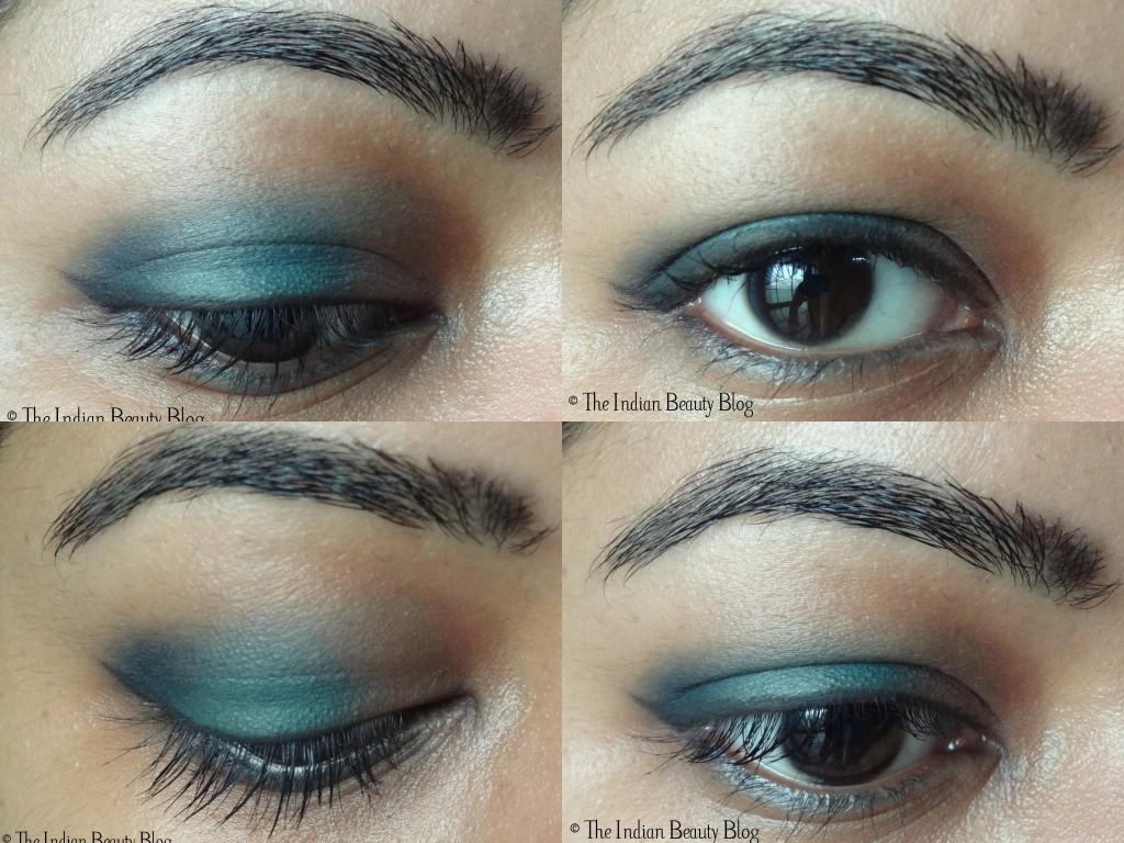 peacock blue eye makeup
