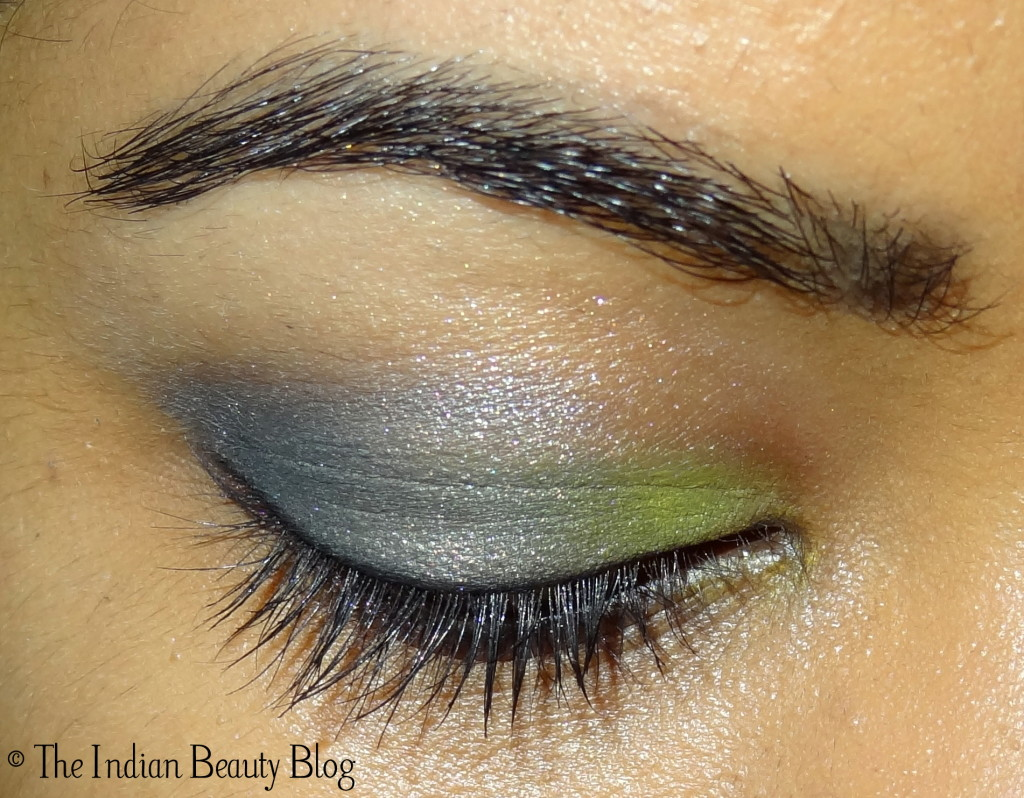 yellow grey eye makeup (2)