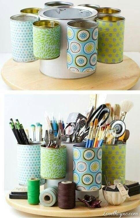 brush storage cans