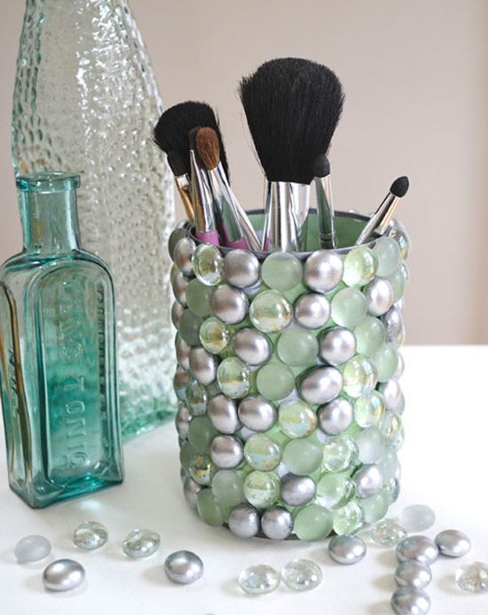decorative brush storage