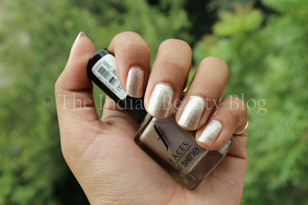 faces hi shine nail paint diamond frost
