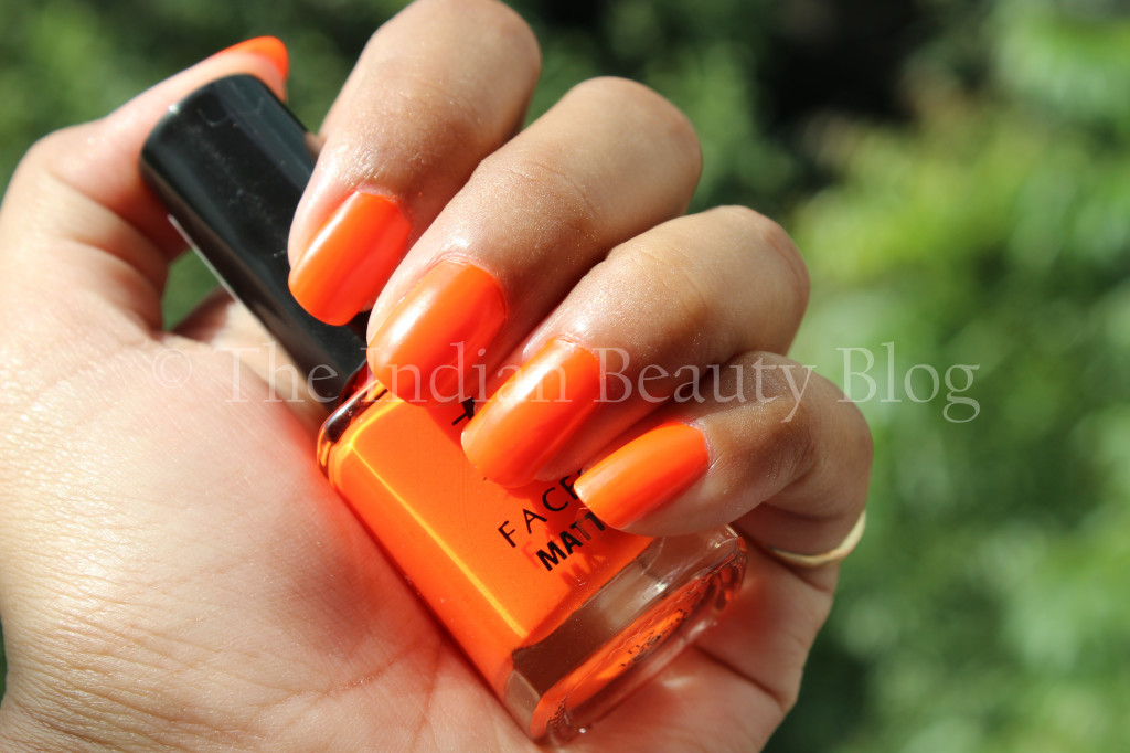 faces matte nail paint fire stick