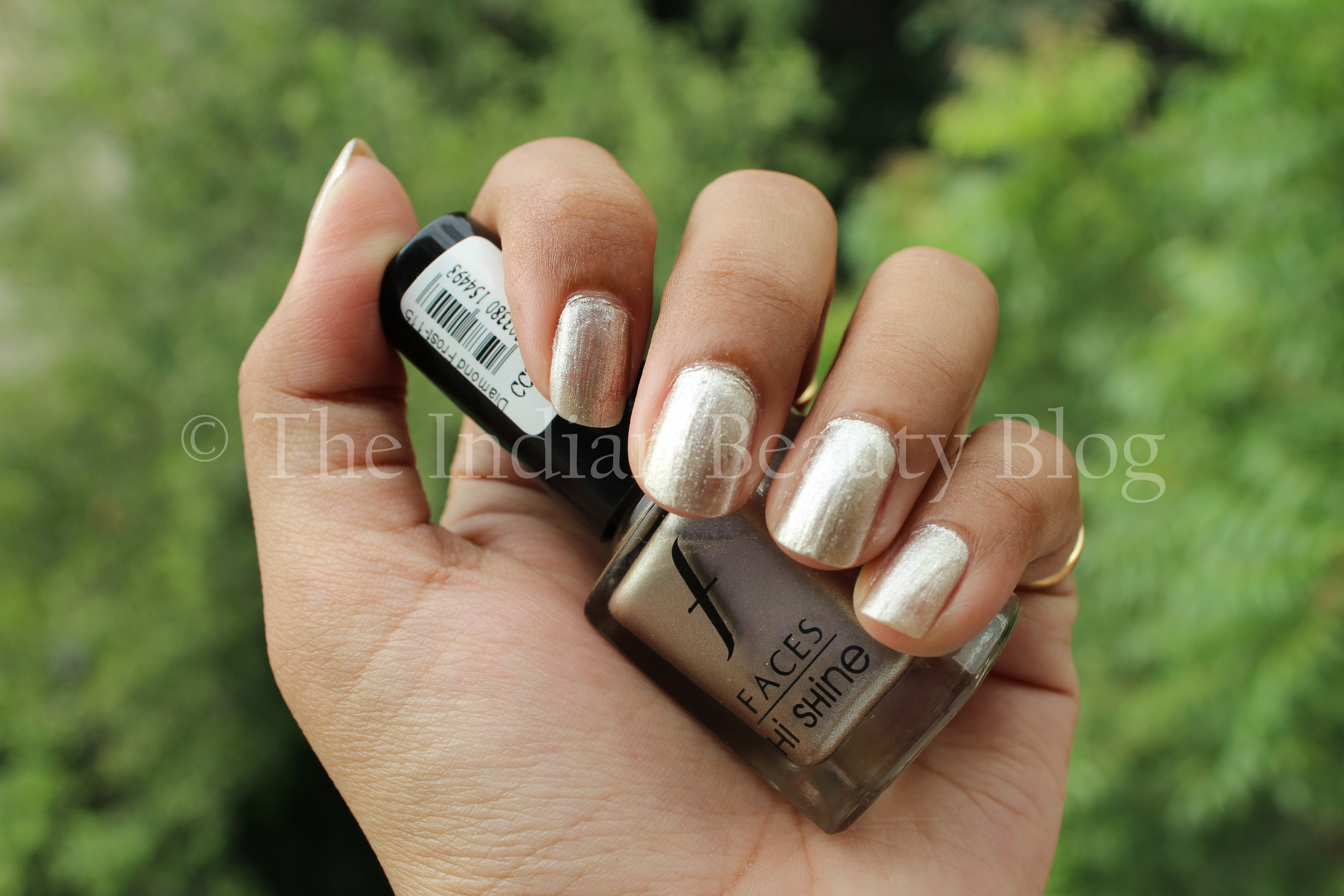 Faces nail enamels- Diamond Frost (Hi- Shine) and Fire Stick (Matte ...