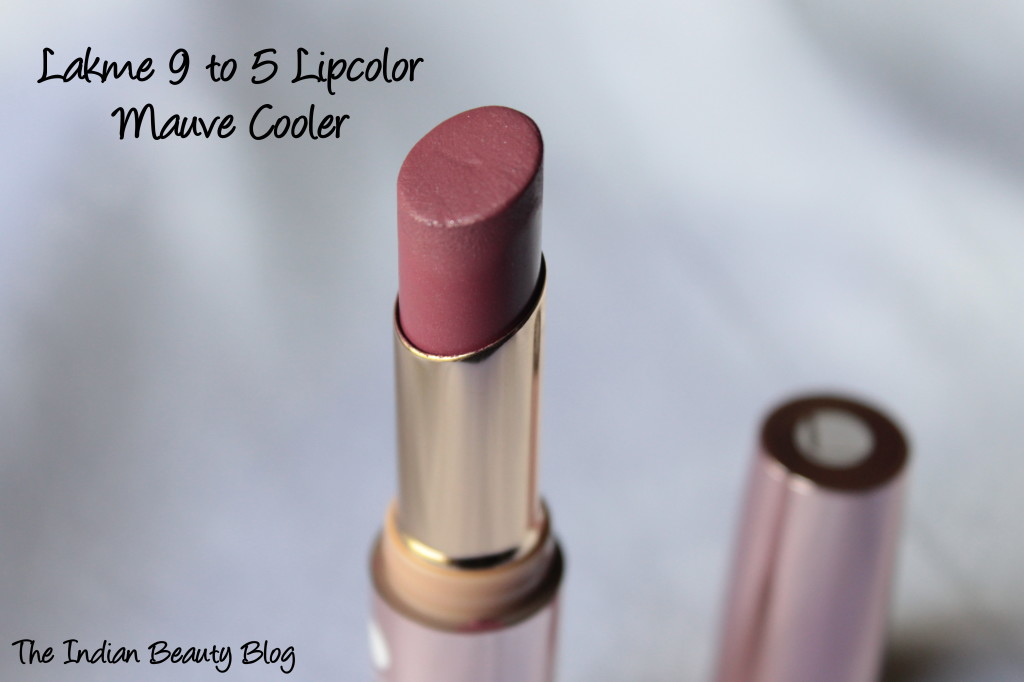 lakme 9to5 lipcolor mauve cooler (4)