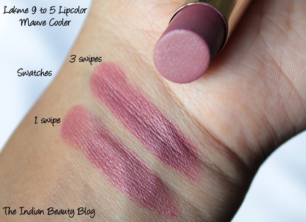 lakme 9to5 lipcolor mauve cooler (7)