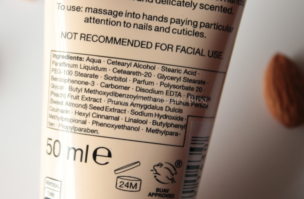 marks and spencers hand cream peach almond