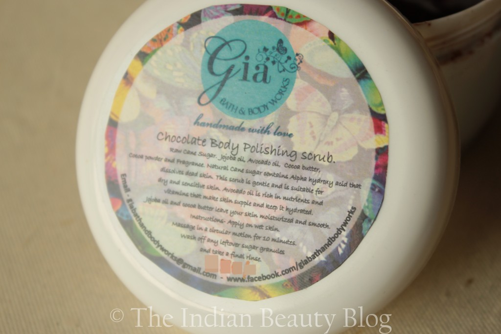 gia chocolate body polishing scrub