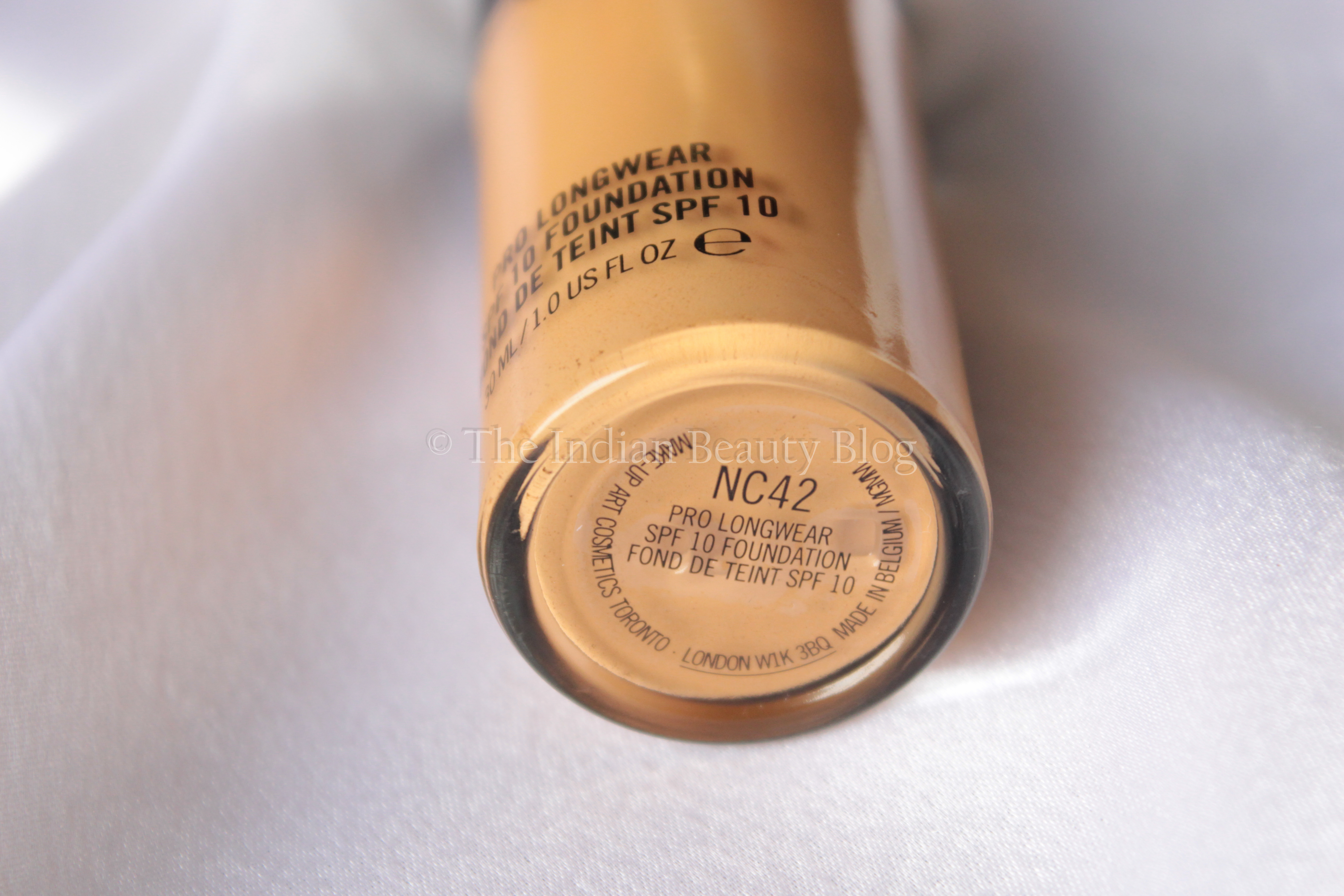 Mac Pro Longwear Foundation Nc42 Review The Indian Beauty Blog