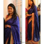 OOTD: Blue Saree with hot-pink accents, and Lucknow trip