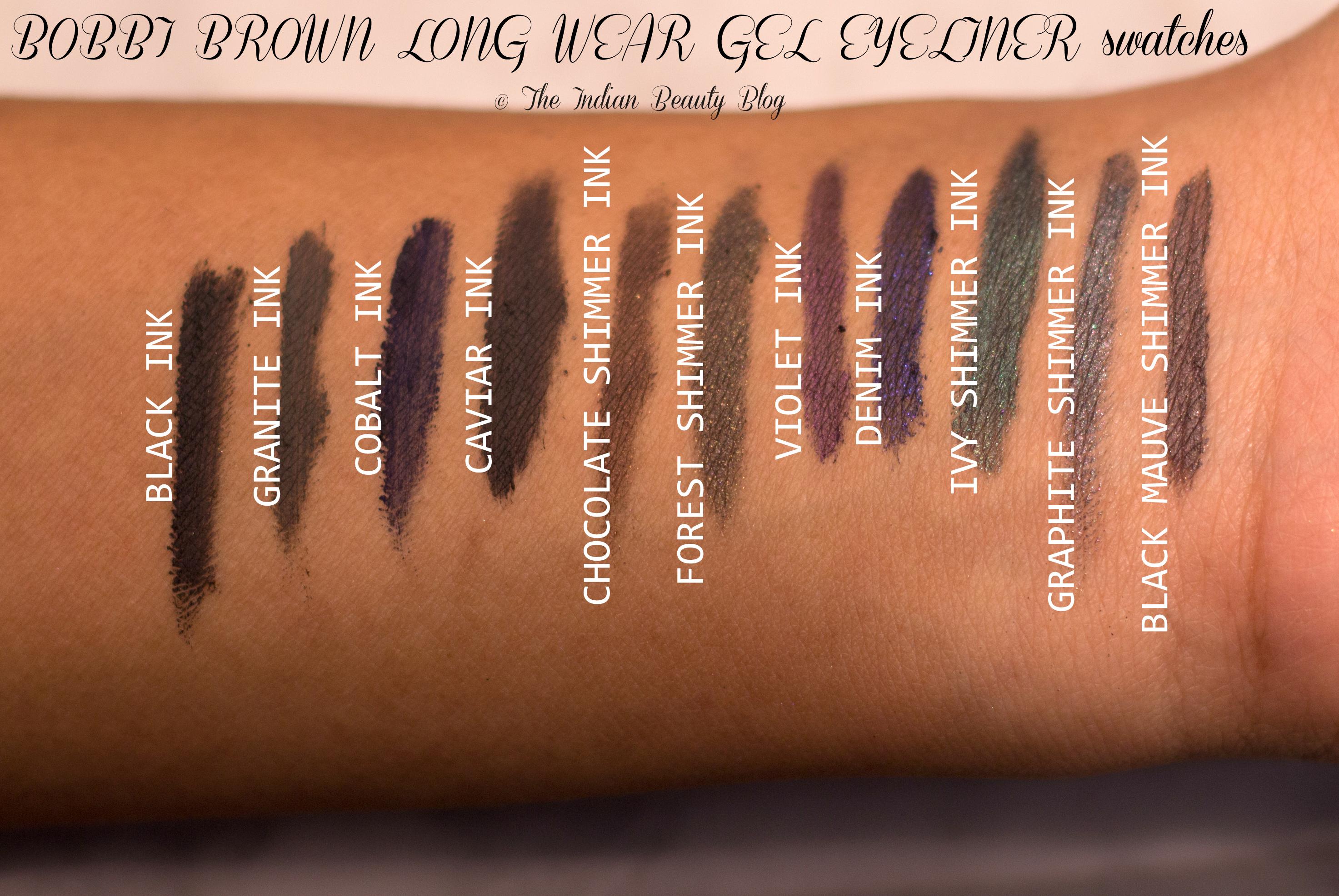 Bobbi Brown Gel Eyeliner Colors