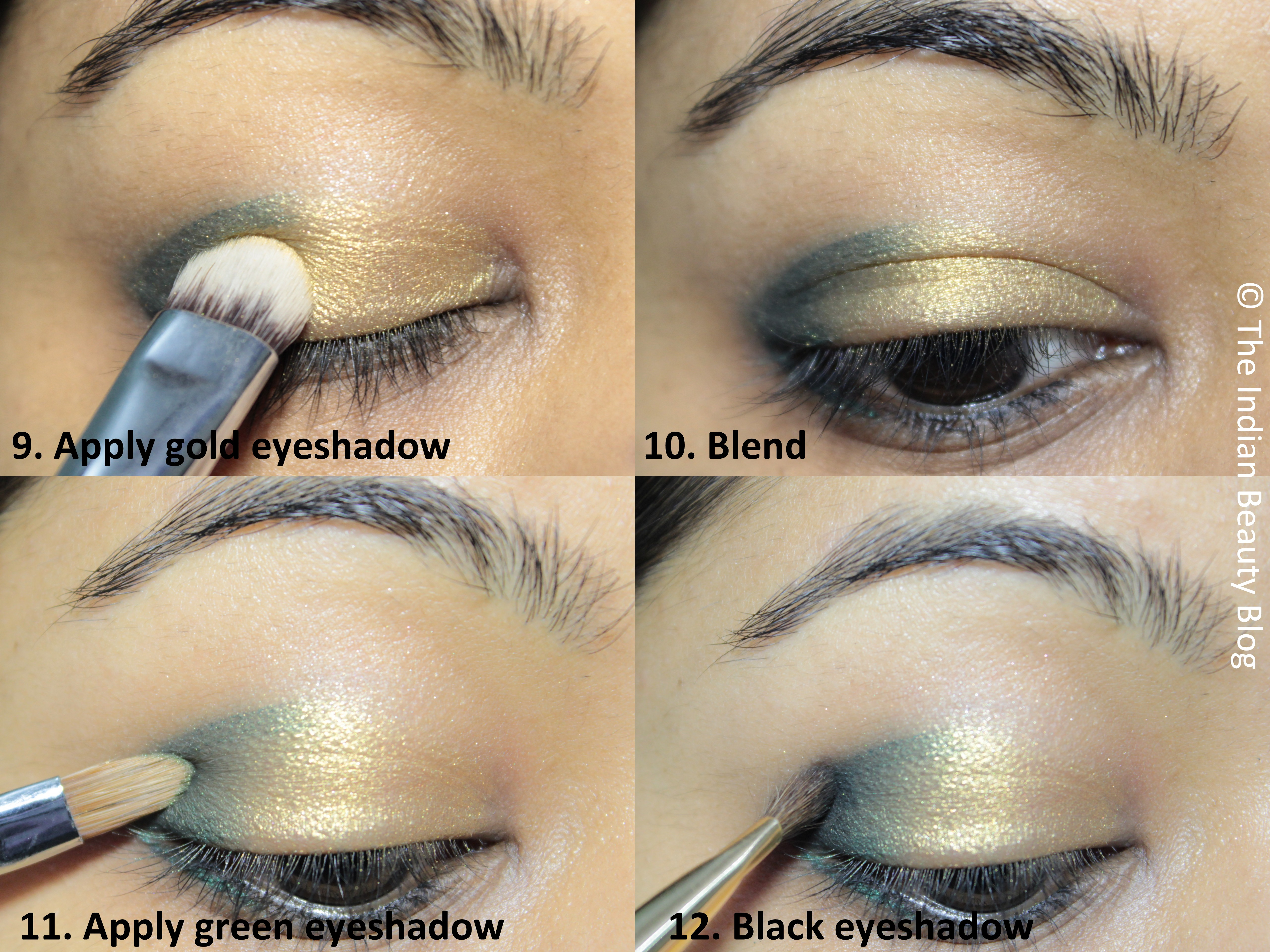 Green smokey eye tutorial golden green smokey eye tutorial baditri Image collections
