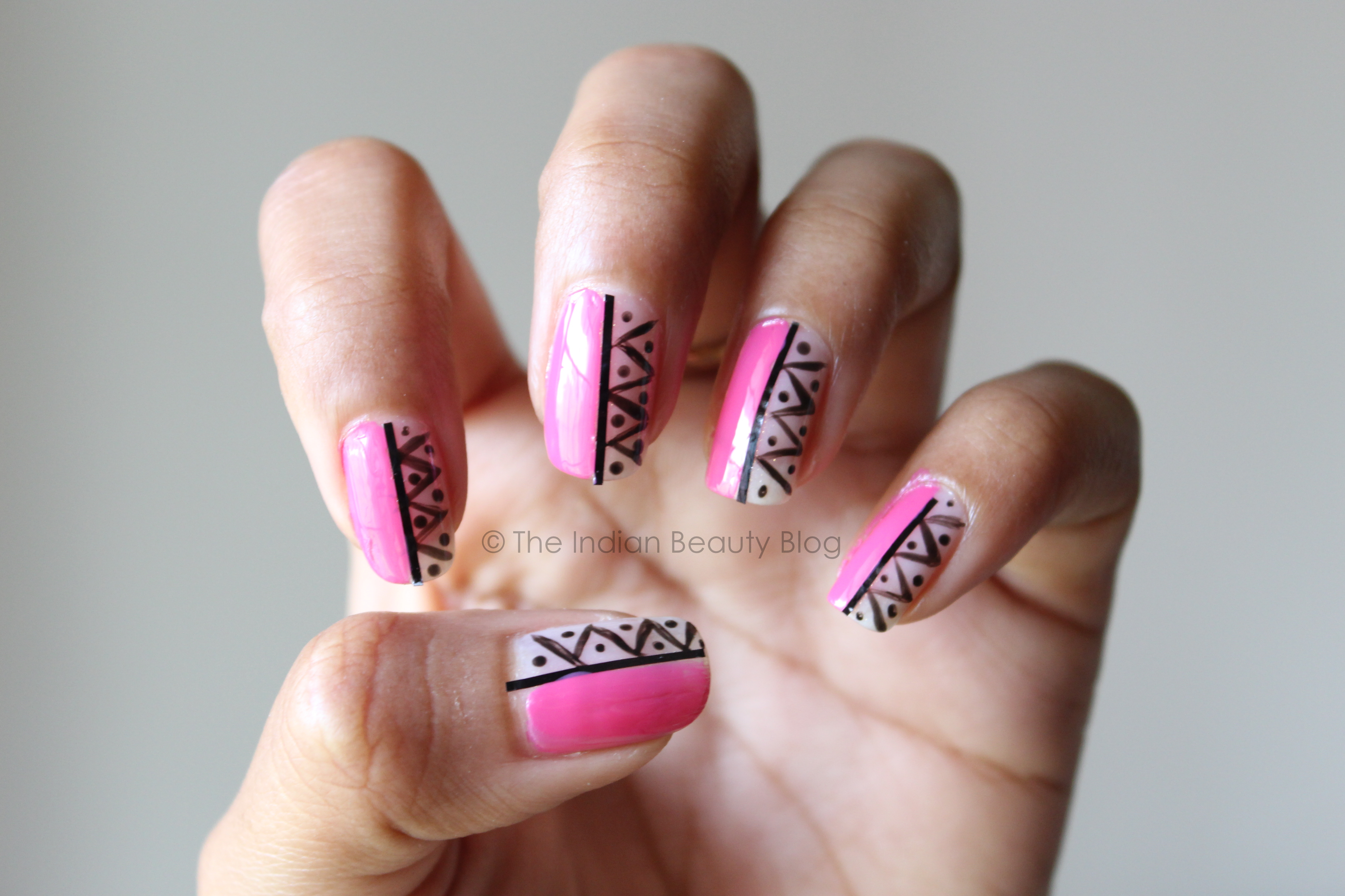 Aztec Nail Art Tutorial