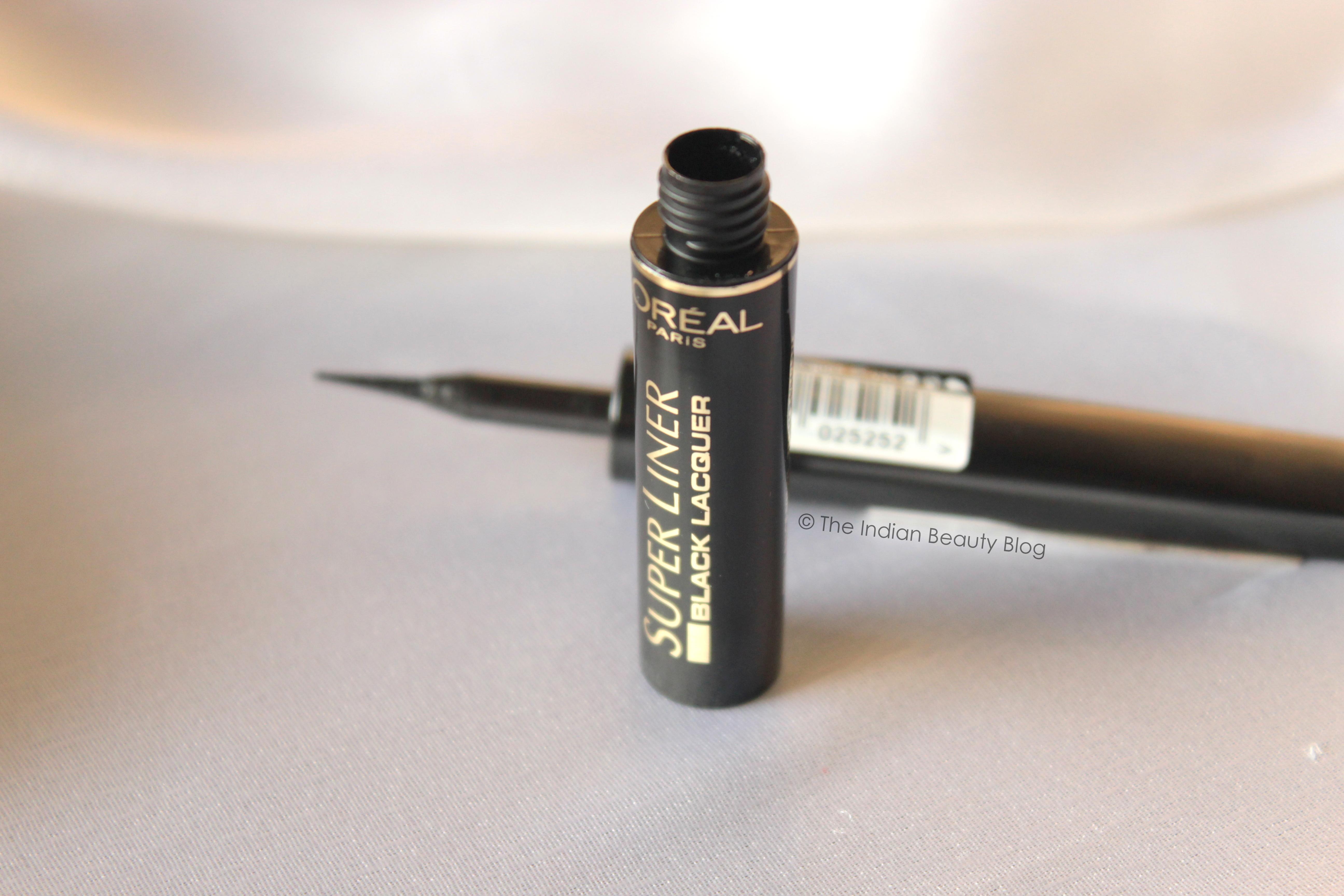 L'Oreal Paris Super Liner Black Lacquer- Review, swatch