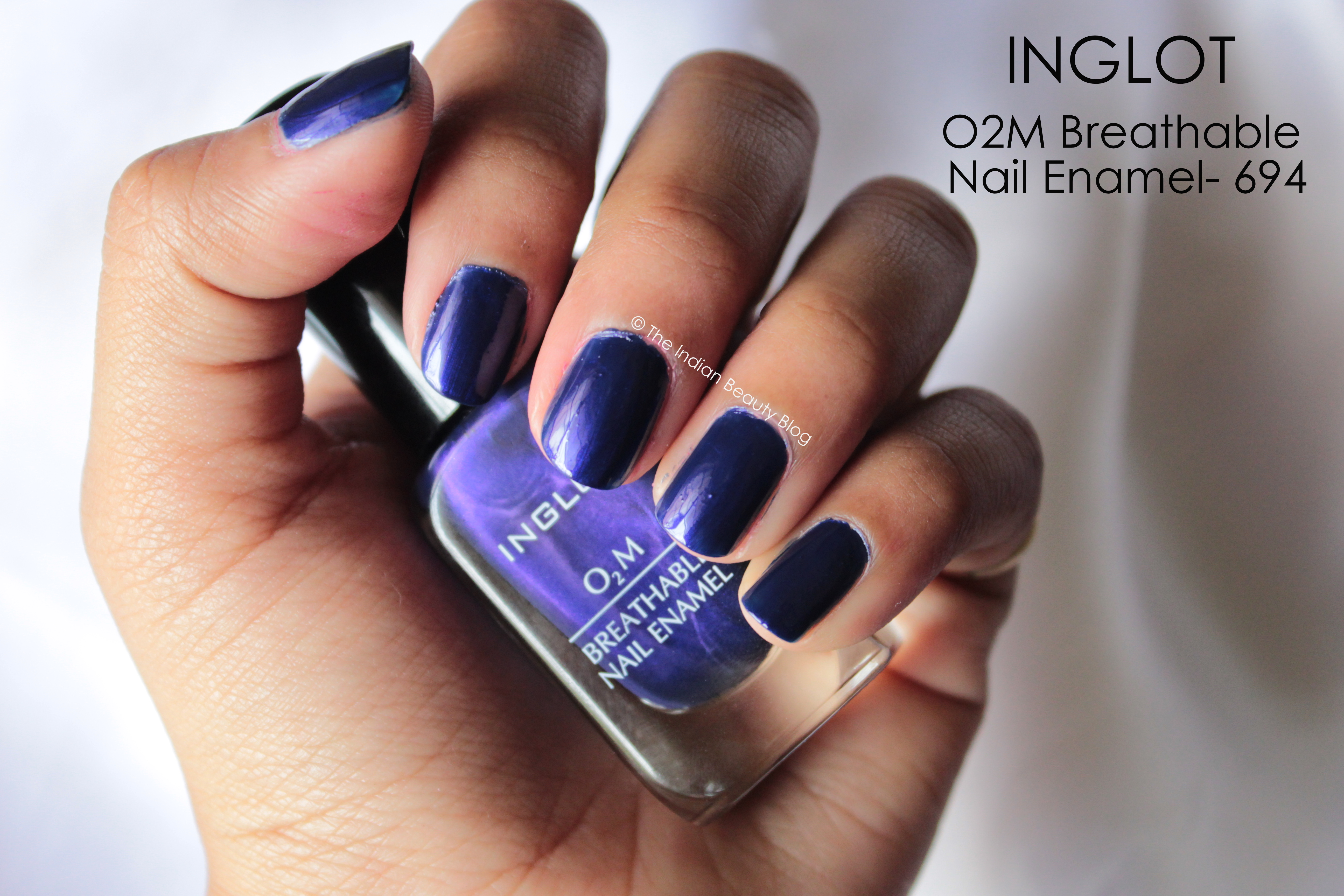 Inglot lipstick 294 and o2m breathable nail enamel 694 review