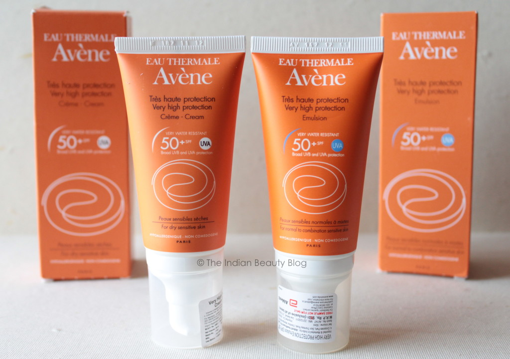 avene very high protection sunscreen emulsion and cream