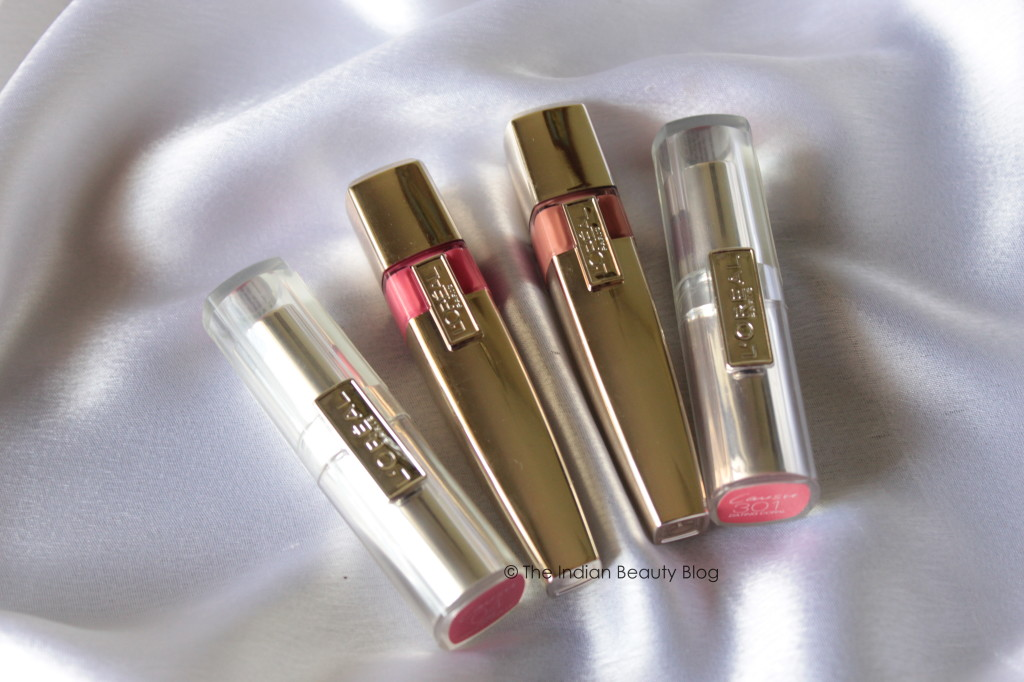 l'oreal paris shine and rouge caresse