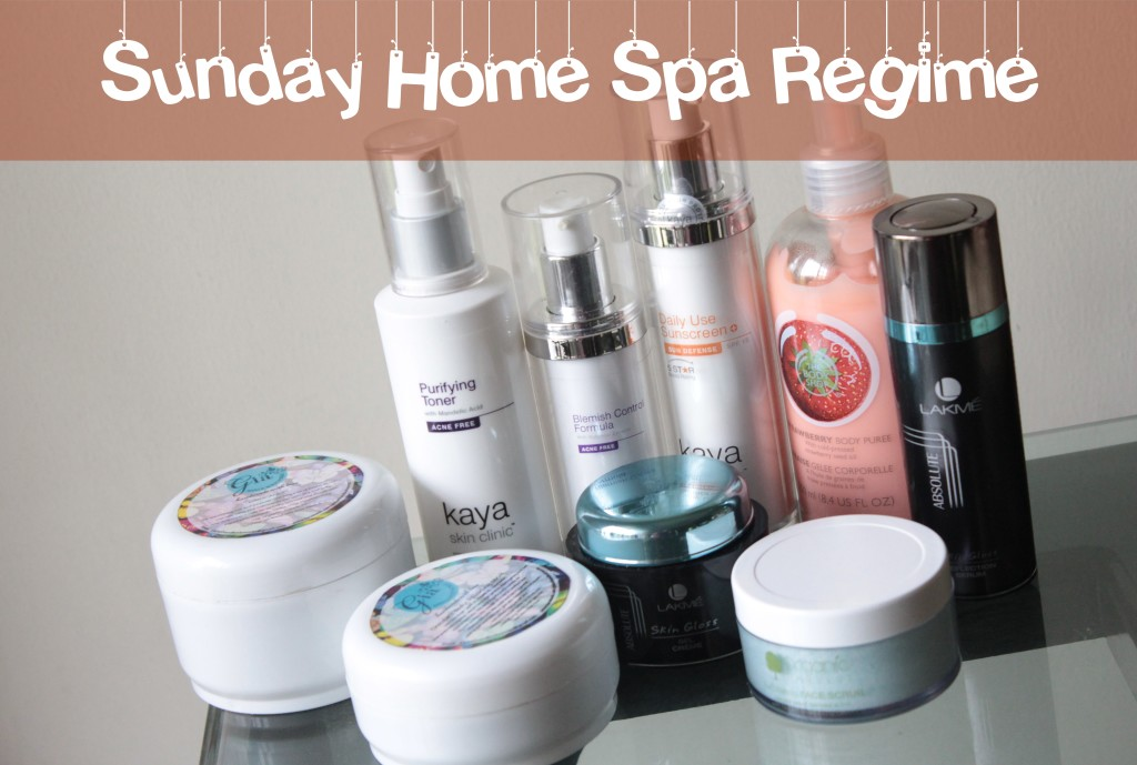 sunday home spa regime
