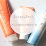 Beauty haul with Khoobsurati.com