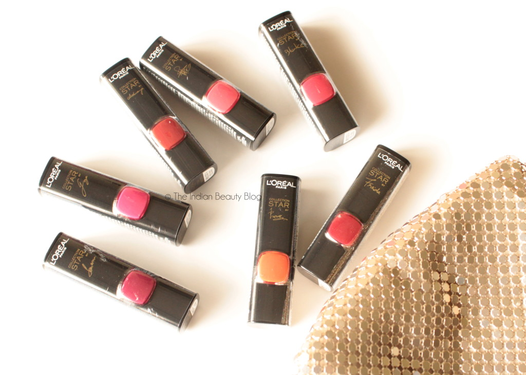 L'Oreal Paris Collection Star Pure Reds- All 7 shades: Review, Price, Swatches, FOTD.
