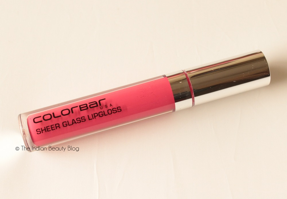 colorbar sheer glass lipgloss rose reflect review swatch
