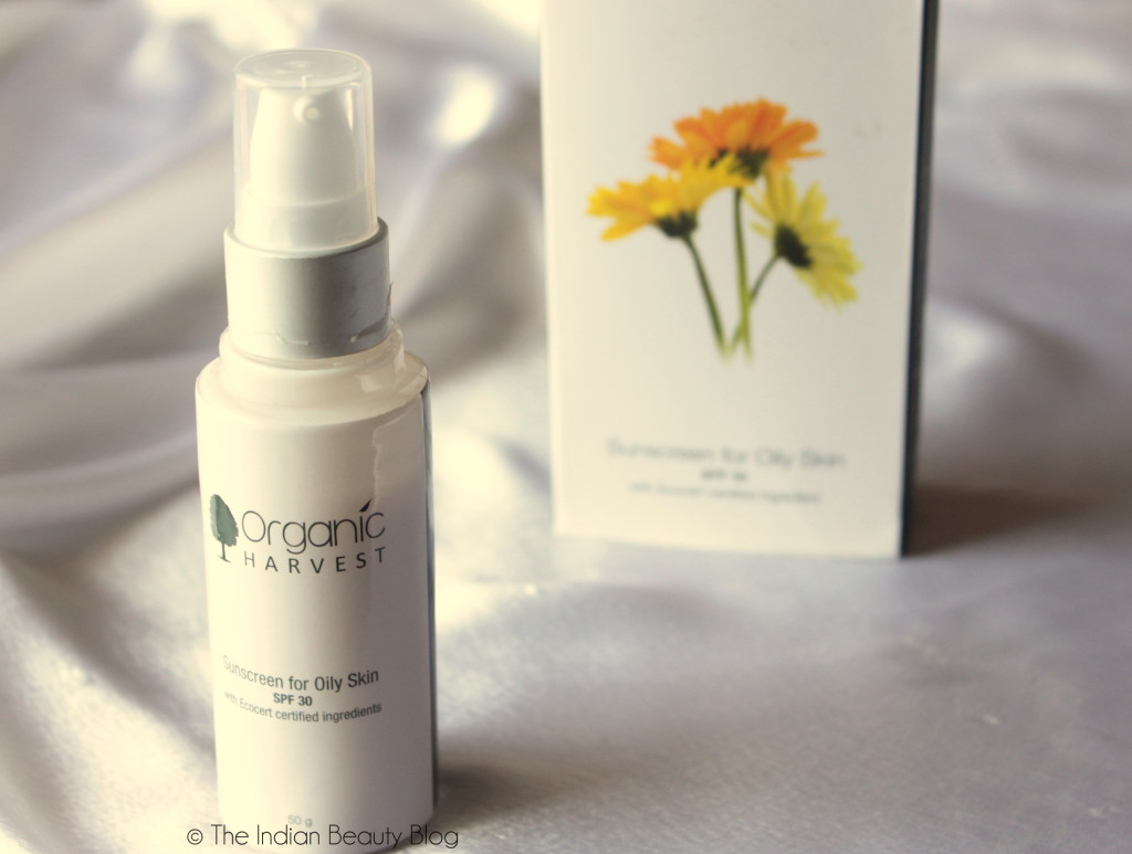 organic harvest sunscreen for oily skin review price swatch