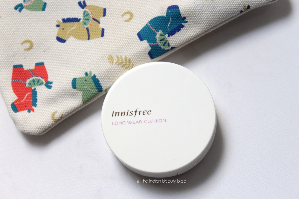 Innisfree Long Wear Cushion 23 Review Swatch The Indian Beauty Blog