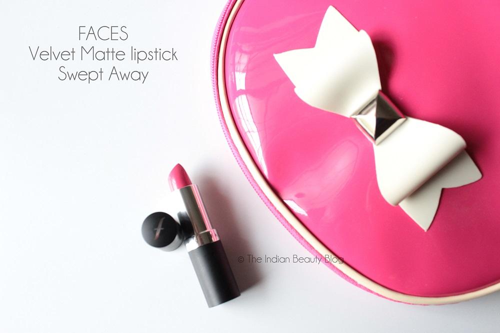 faces velvet matte lipstick swept away reviews