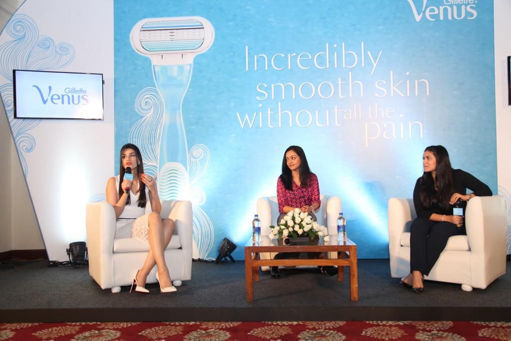 Gillette Venus Shaving Session with Kriti Sanon and beauty expert Namrata Soni