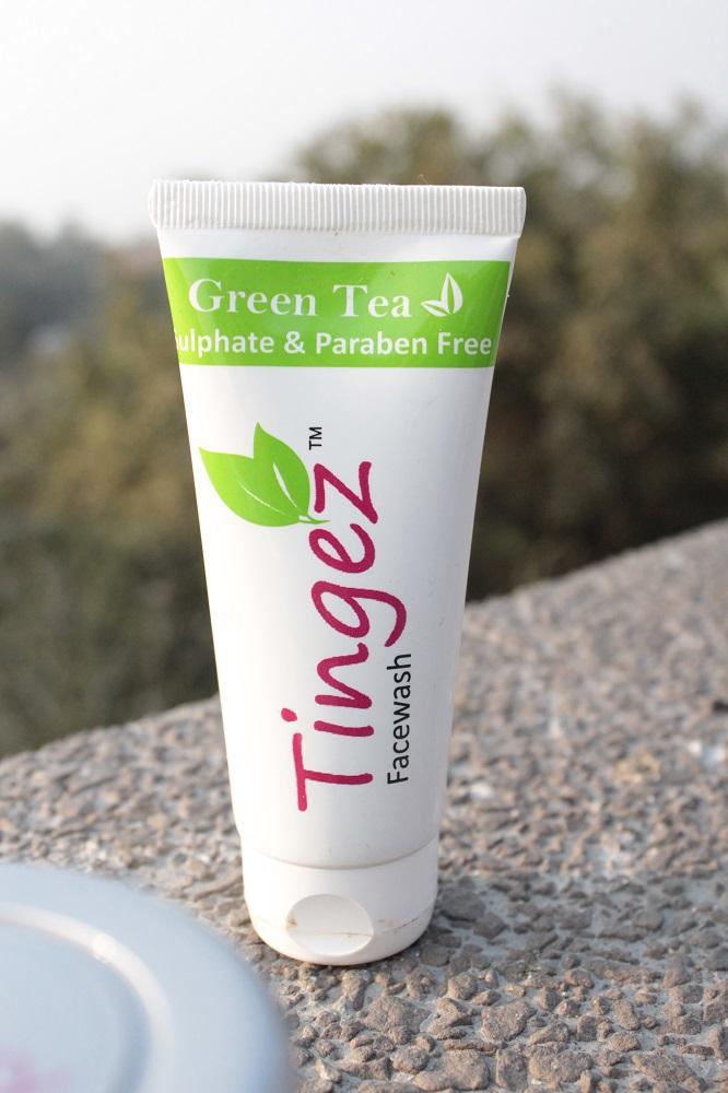 kookkal tingez green tea face wash review