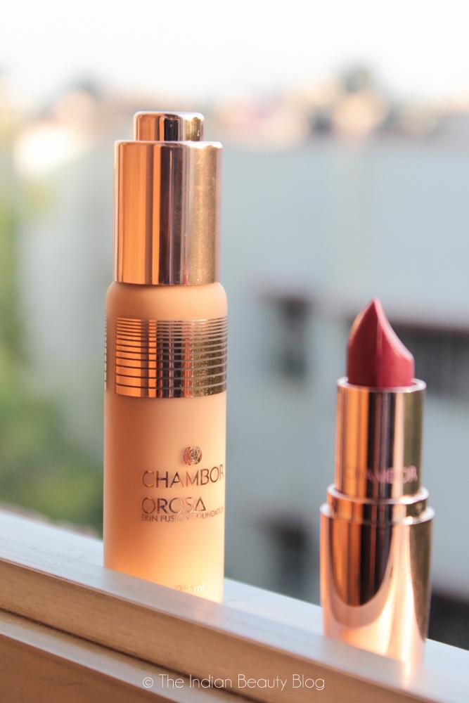 chambor orosa foundation lipstick review