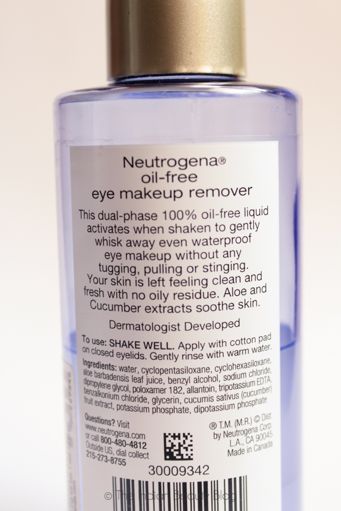 Oil based eye makeup remover