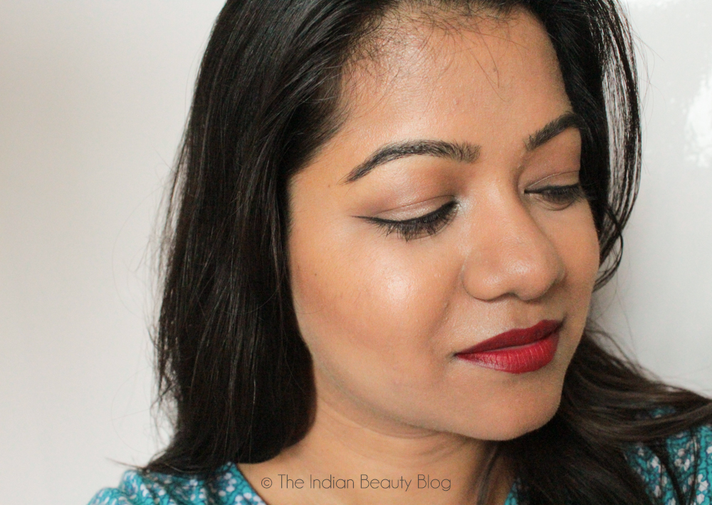 winged eyeliner makeup look indian beauty blog