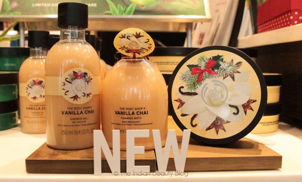 the body shop vanilla chai range