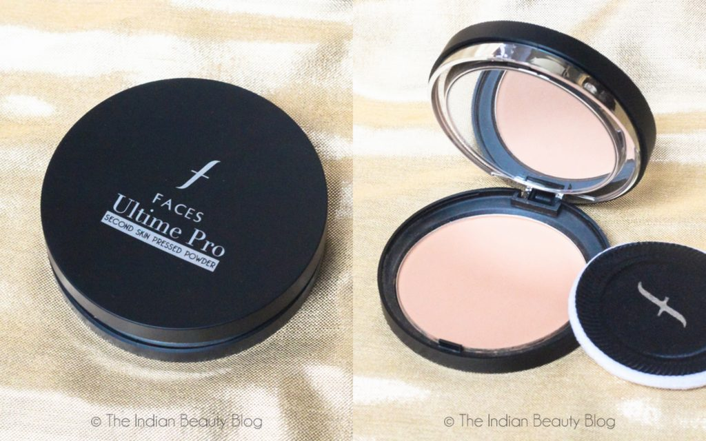 faces ultime pro pressed powder fundation sand swatch review