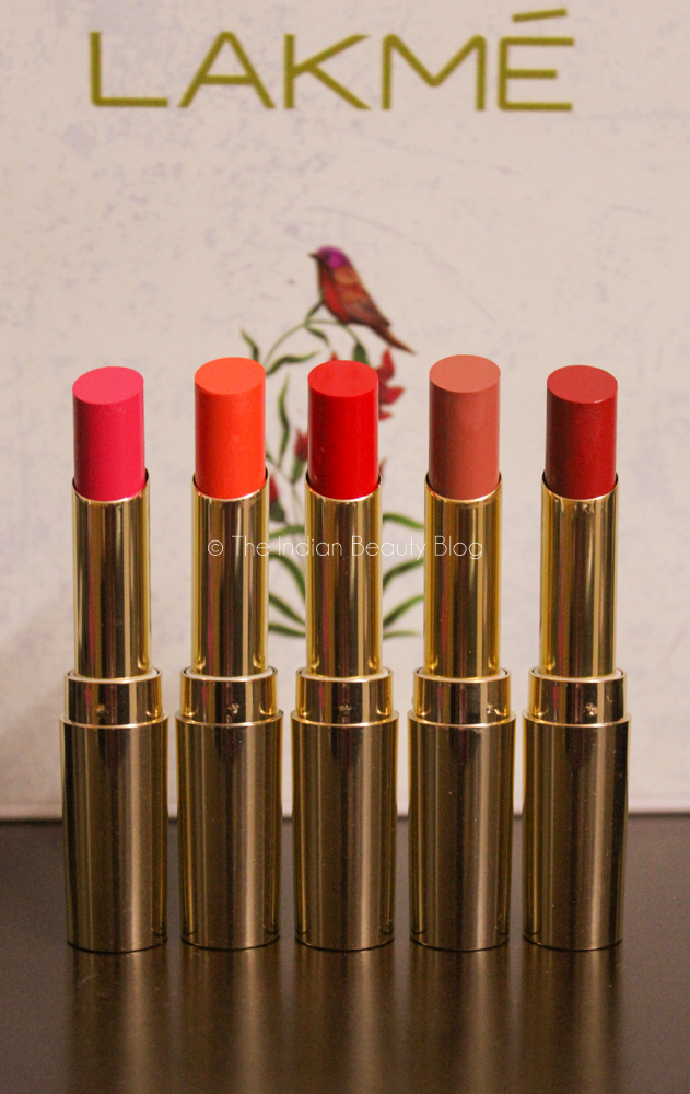Lakme Absolute Argan Oil Lipsticks Swatches Review The Indian Beauty Blog