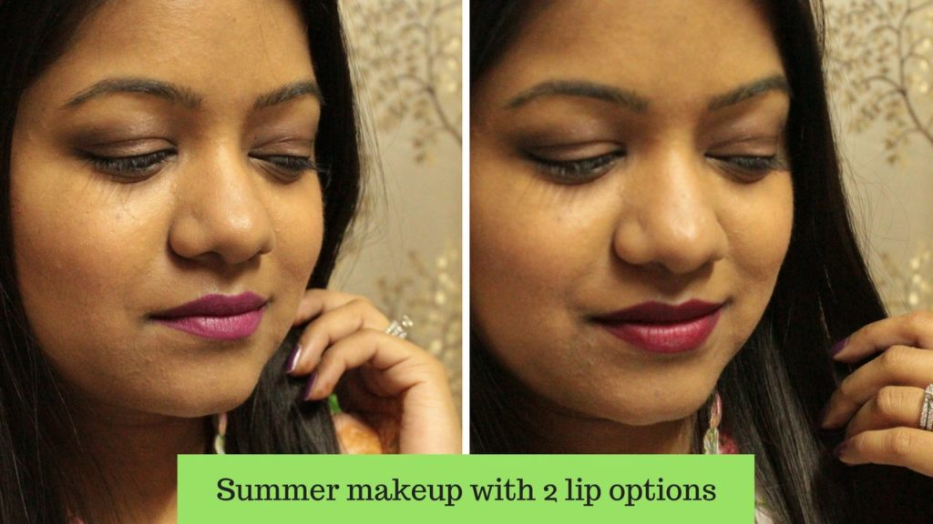 Summer makeupwith 2 lip options