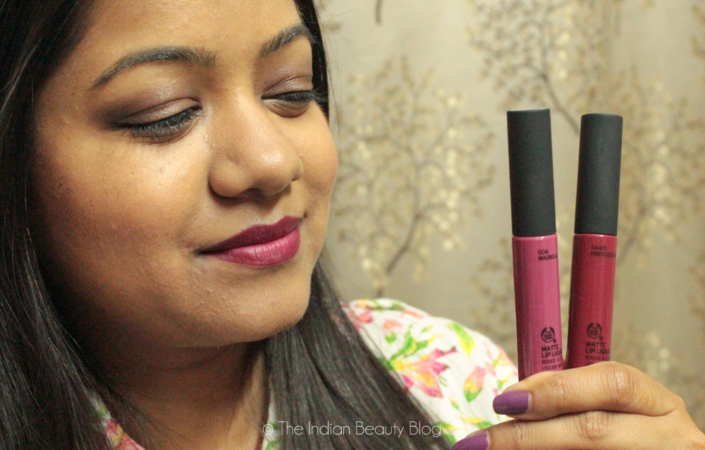 the body shop matte lip colors
