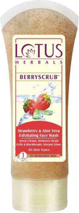 Lotus Berryscrub and Strawberry and Aloe Vera Exfoliating Face Wash