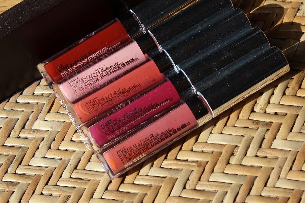 colourpop matte lipsticks