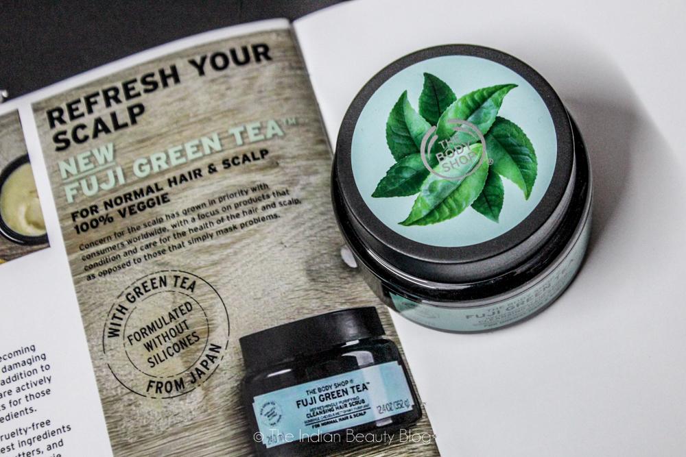 the body shop fuji green tea hair scrub