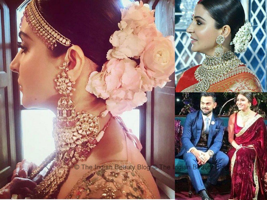 anushka sharma wedding bridal beauty
