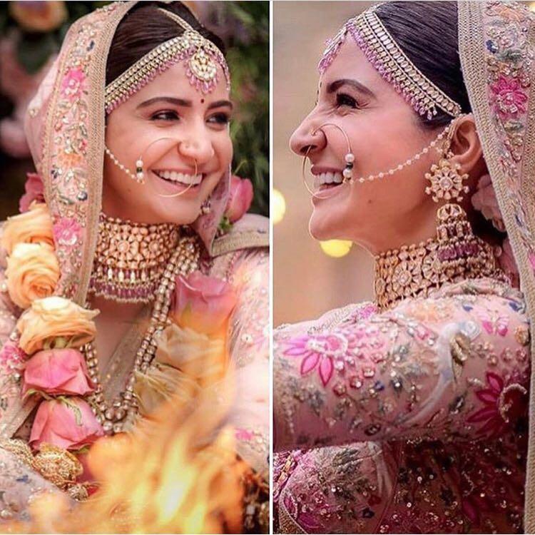 Anushka Sharma Wedding Bridal Beauty Trends The Indian
